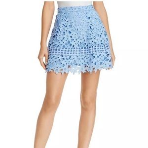 Lovers and  friends blue lace circle skirt